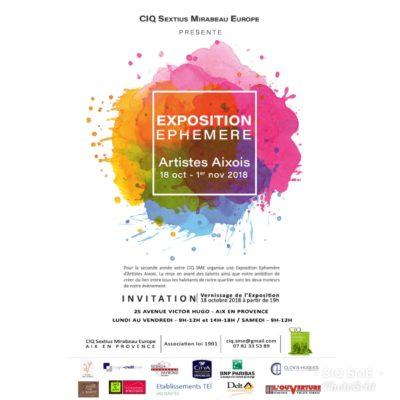 Delta Ascenseurs partenaires de l'exposition des Artistes aixois à partir du 18-10-18