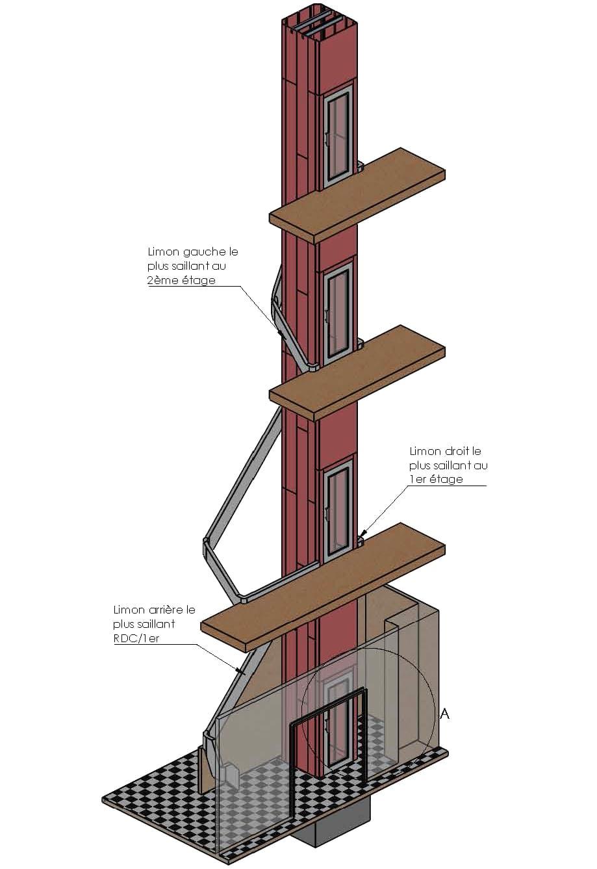 Étude pour installation d'ascenseur en copropriété -2