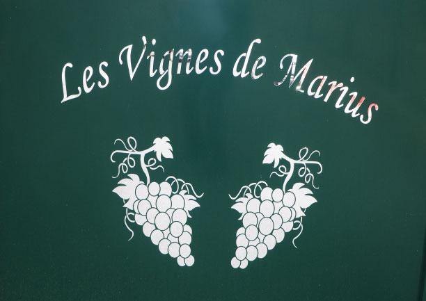 Découpe laser portail Vignes de Marius